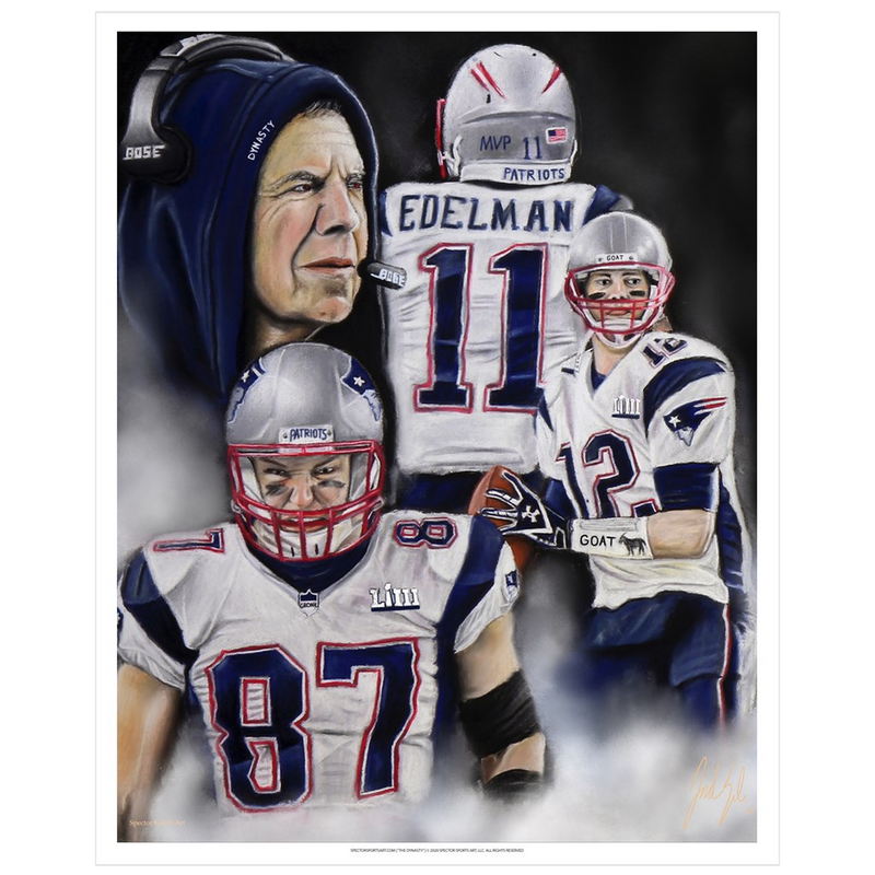 "Patriots ""The Dynasty"" Art Print - Spector Sports Art"