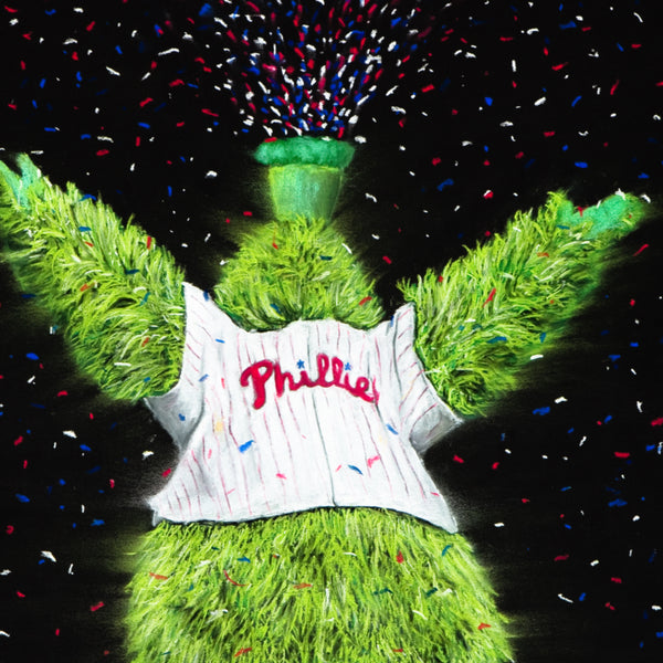 "Philadelphia Phillies ""Phanatic"" Art Print - Spector Sports Art -"