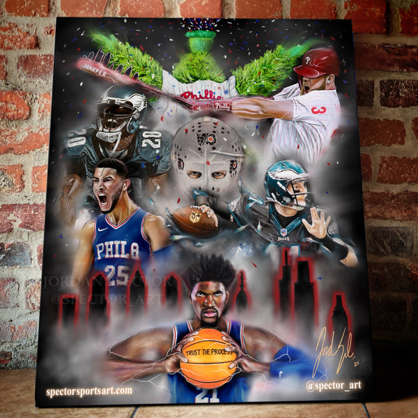 Philly Flavor Canvas - Spector Sports Art -
