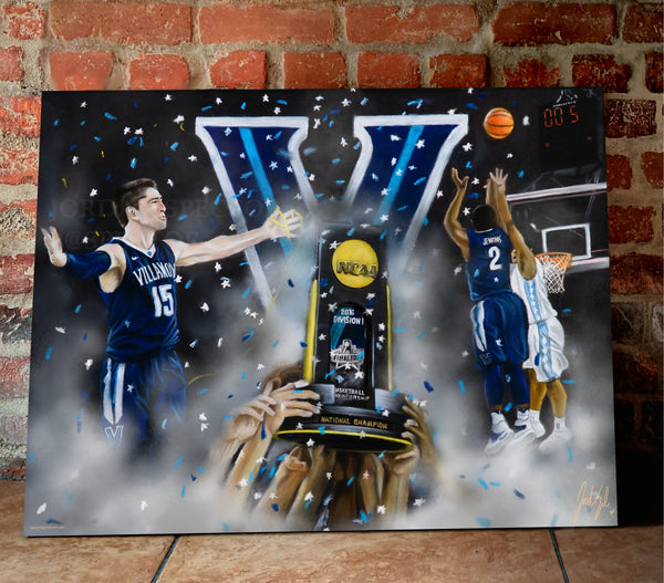 "Villanova 2016 National Champions ""The Shot"" - Spector Sports Art"