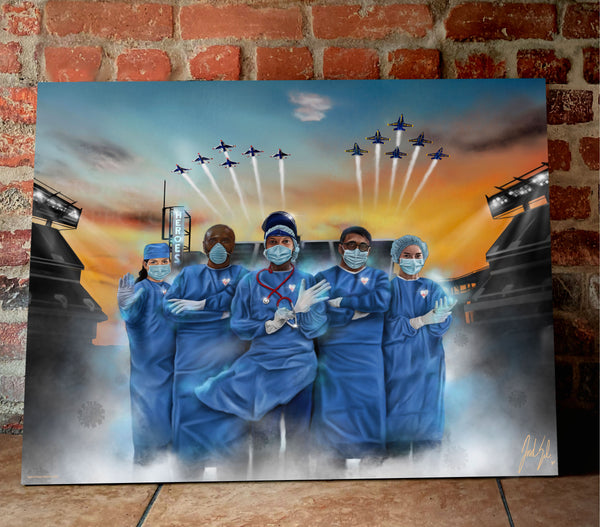 Healthcare Heroes Canvas - Spector Sports Art -