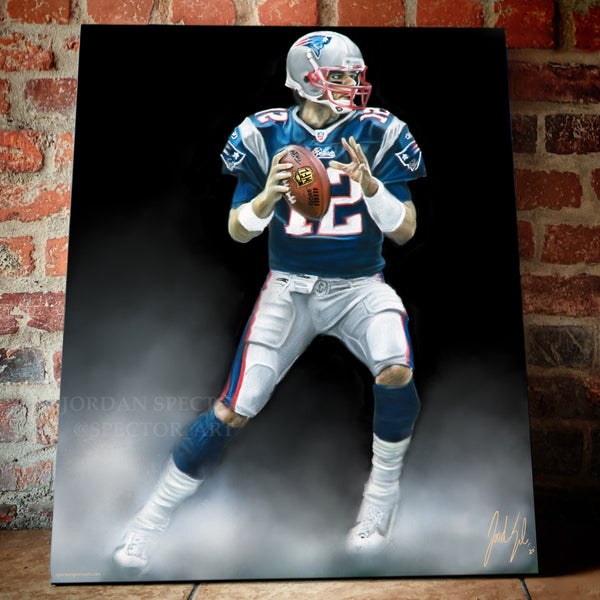 "Tom Brady ""Patriots Legacy"" Canvas - Spector Sports Art -"