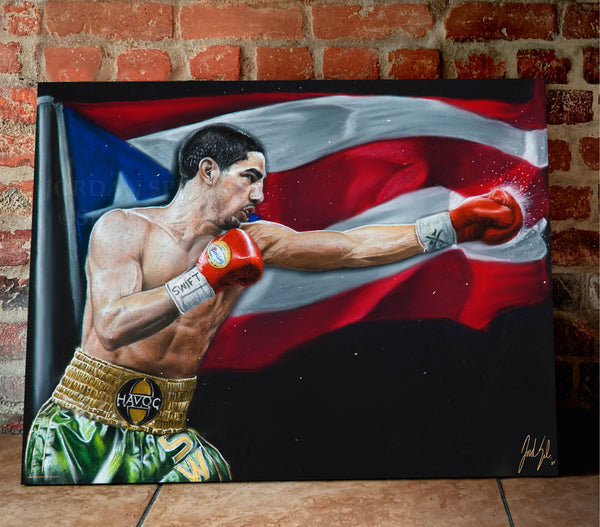 "Danny ""Swift"" Garcia Canvas - Spector Sports Art -"