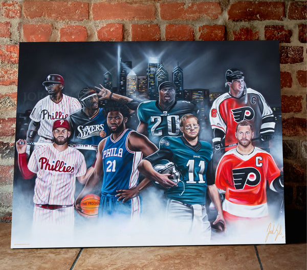 "Philly Sports ""Phutures Past"" - Spector Sports Art"