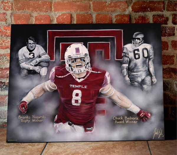 "Tyler Matakevich ""All American"" Canvas - Spector Sports Art -"