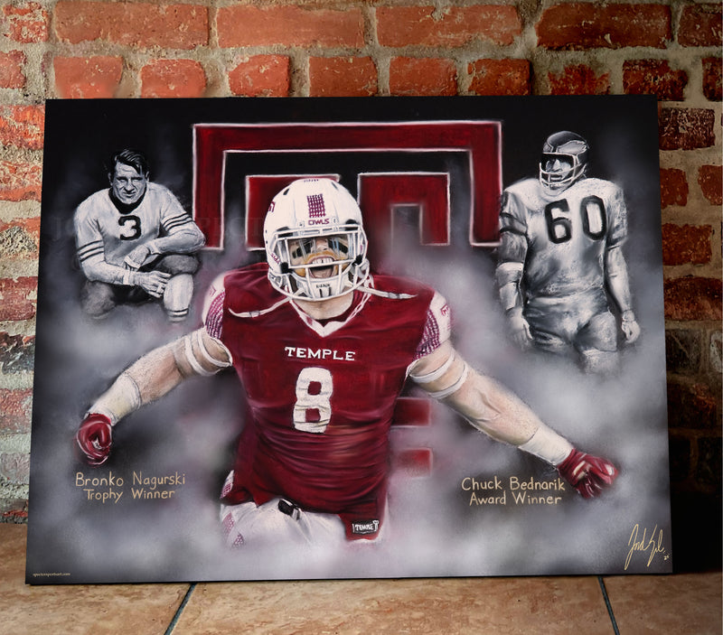 "Tyler Matakevich ""All American"" Canvas - Spector Sports Art"