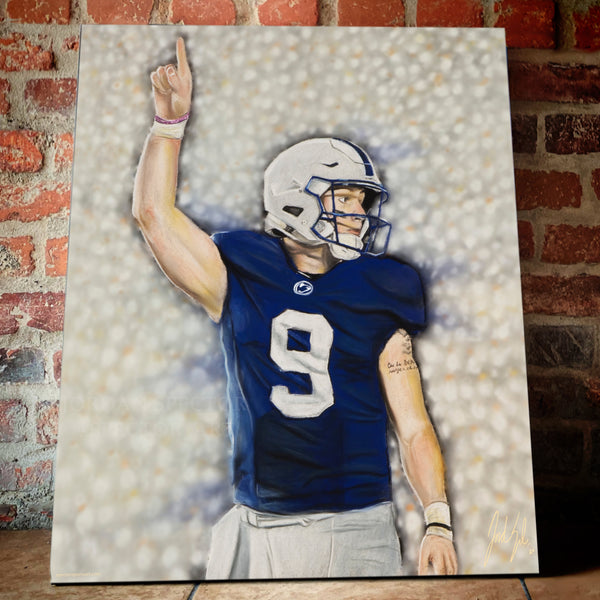 "Trace McSorley ""White Out"" Canvas - Spector Sports Art -"