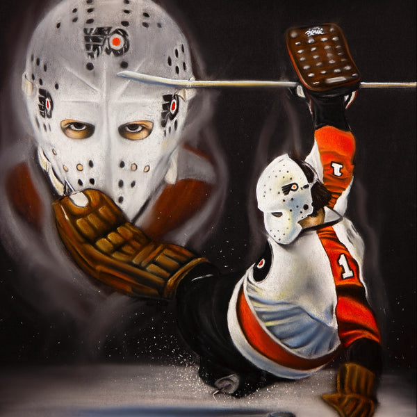 Bernie Parent Canvas - Spector Sports Art -