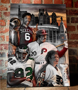 "Philly Sports ""Broad Street Boys"" Canvas - Spector Sports Art -"