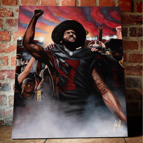 "Colin Kaepernick ""Unbroken"" Canvas - Spector Sports Art -"