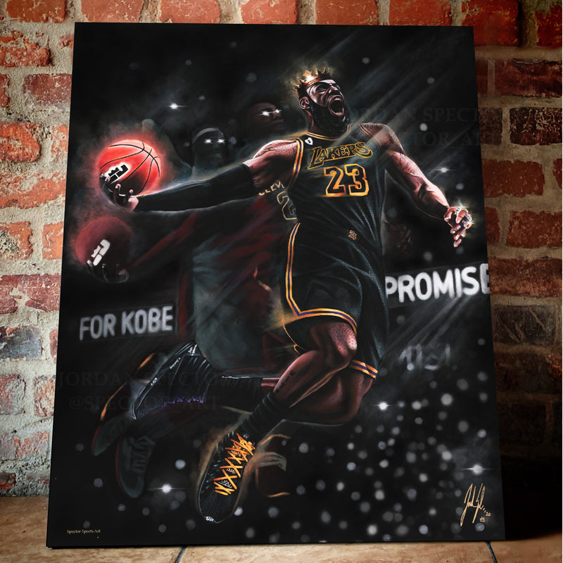 "King James ""King Me"" Canvas - Spector Sports Art -"