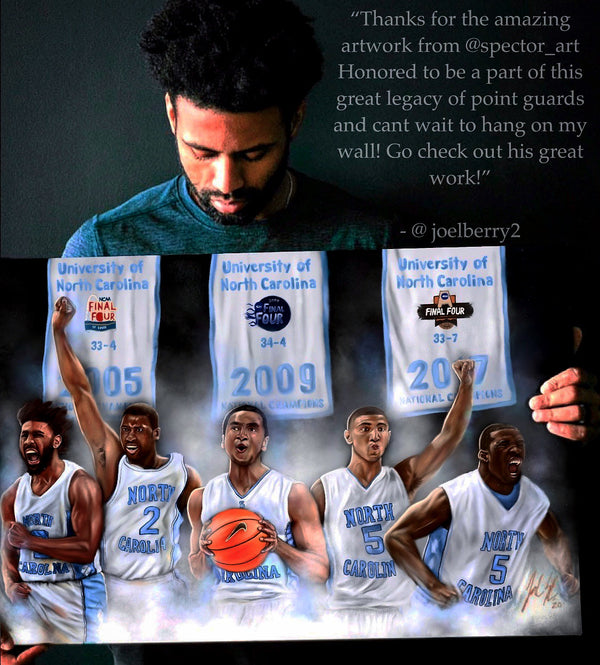 "Roy Williams UNC ""Point Guard Dynasty"" Canvas - Spector Sports Art"