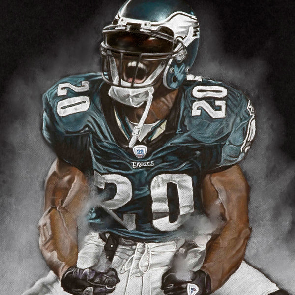 "Brian Dawkins ""Weapon X"" - Spector Sports Art"