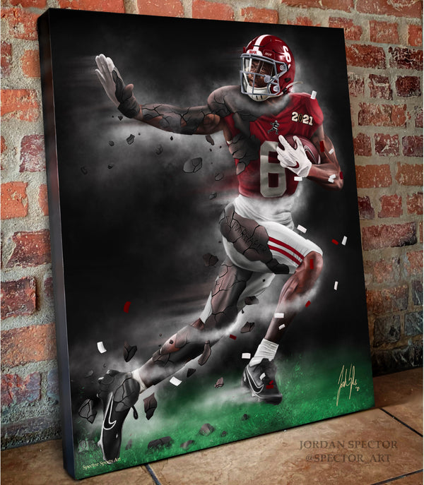 "Devonta Smith ""The Slim Reaper"" Canvas - Spector Sports Art -"