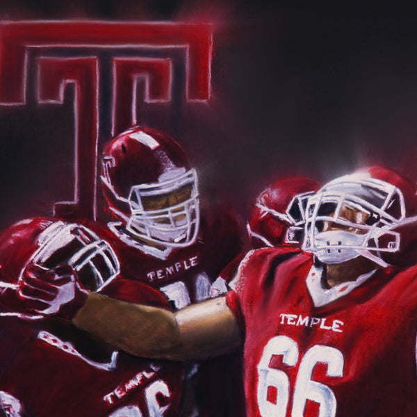 "Temple University Football ""TUFF"" Canvas - Spector Sports Art -"
