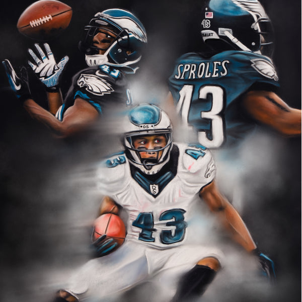 "Darren Sproles ""The Bullet"" Canvas - Spector Sports Art -"