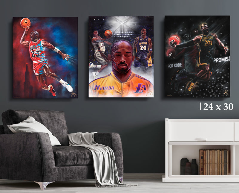 NBA Legends Bundle - Canvas Collection - Spector Sports Art - 24 X 30 Canvas | Limited Edition (20% OFF)