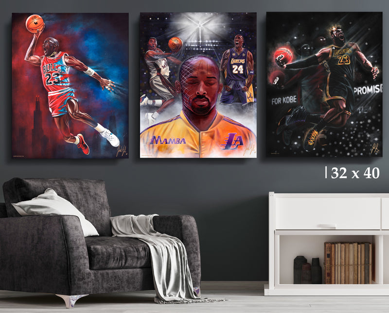 NBA Legends Bundle - Canvas Collection - Spector Sports Art - 32 X 40 Canvas | Limited Edition (20% OFF)