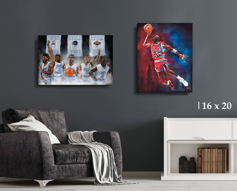 Tar Heel Bundle - Canvas Collection - Spector Sports Art - 16 X 20 Canvas (20% OFF)