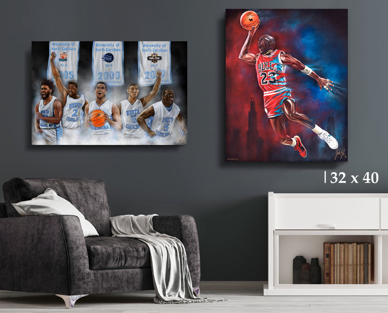 Tar Heel Bundle - Canvas Collection - Spector Sports Art - 32 X 40 Canvas | Limited Edition (20% OFF)
