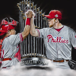 "Philadelphia Phillies World Series Champions ""Dynamic Duo"" Art Print - Spector Art"