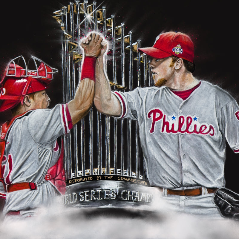 "Philadelphia Phillies World Series Champions ""Dynamic Duo"" Art Print"