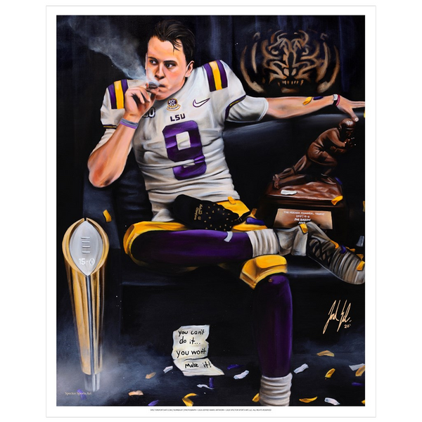 "Joe Burrow ""Burreaux"" Art Print - Spector Sports Art - 16 X 20 Art Print / No Frame"