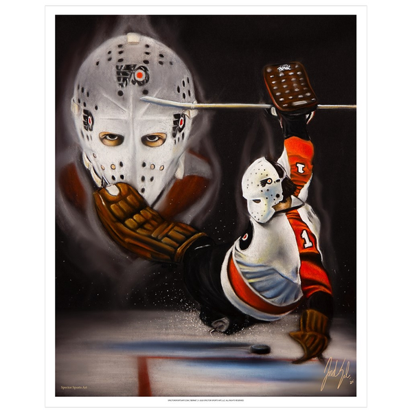 Bernie Parent Art Print - Spector Sports Art - 16 X 20 Art Print / No Frame