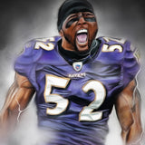 "Ray Lewis ""Gridiron Legend"" Art Print - Spector Sports Art"