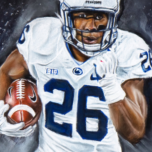 "Saquon Barkley ""A Lions Bark"" Canvas - Spector Sports Art -"