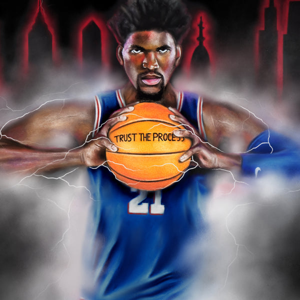 "Joel Embiid ""The Process"" - Spector Sports Art"
