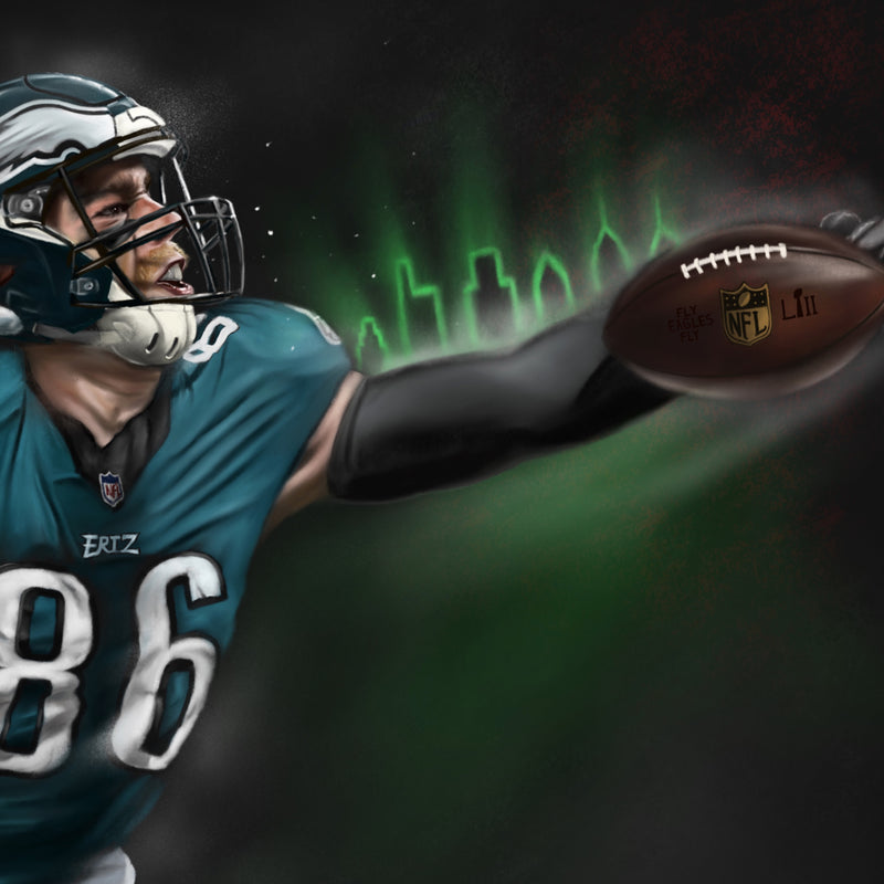 "Zach Ertz ""Believe"" - Spector Sports Art"