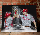 "Philadelphia Phillies World Series Champions ""Dynamic Duo"" Art Print - Spector Sports Art"