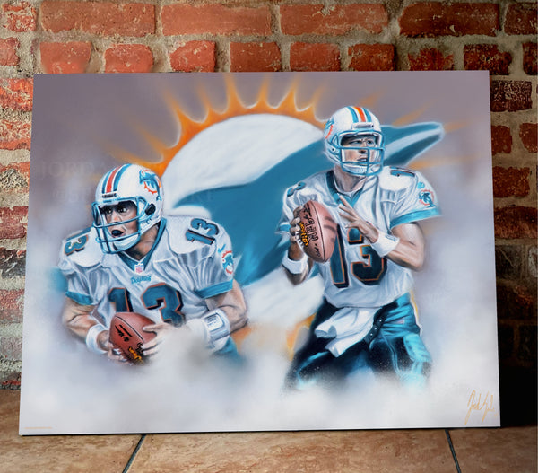 "Dan Marino ""Dolphins Legend"" Canvas - Spector Sports Art -"