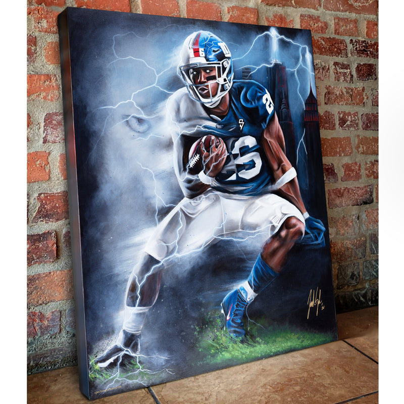 "Saquon ""Born To Run"" - Spector Sports Art"