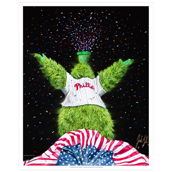 "Philadelphia Phillies ""Phanatic"" Art Print - Spector Sports Art - 16 X 20 Art Print"