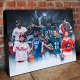 """Phutures Past"" Philly Legends - Spector Sports Art"