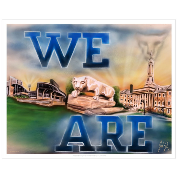 "Penn State ""We Are"" Art Print - Spector Sports Art"