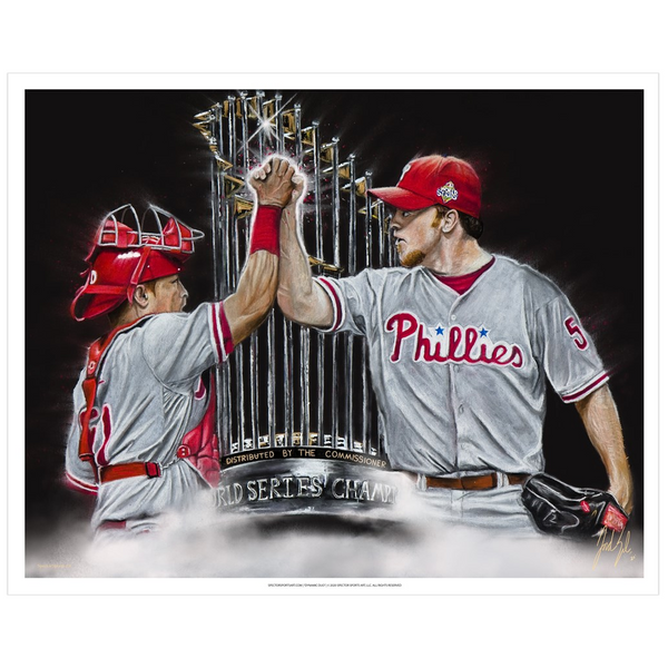 "Philadelphia Phillies ""Dynamic Duo"" Art Print - Spector Sports Art - 16 X 20 Art Print"