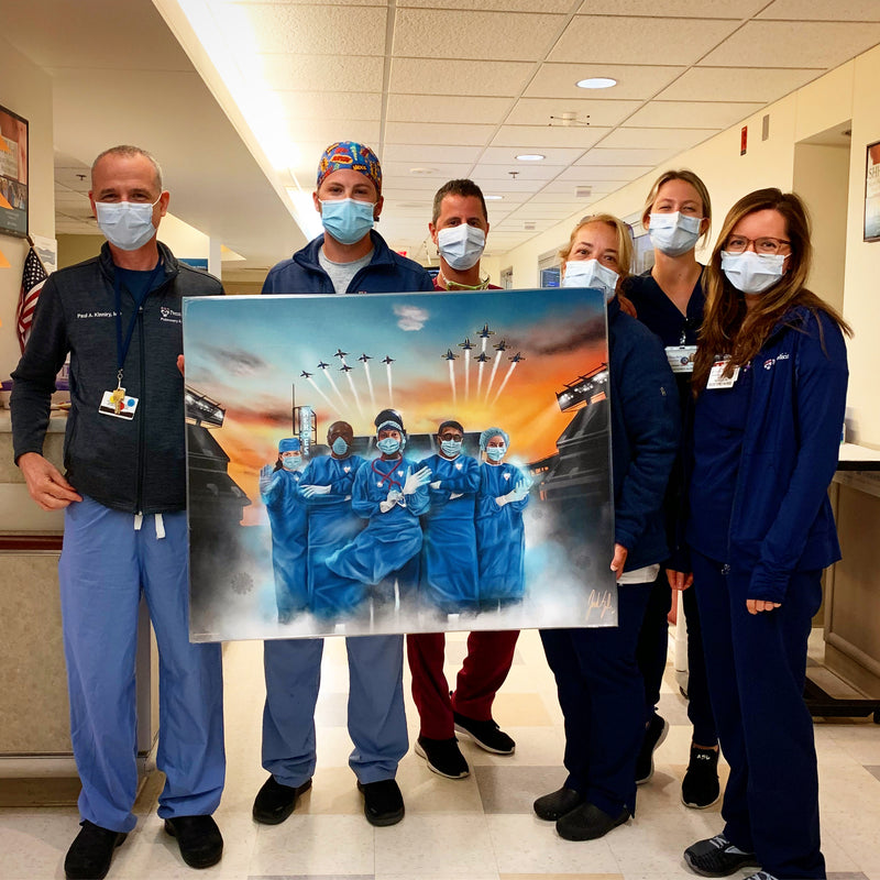 Healthcare Heroes - Spector Sports Art