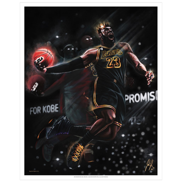 "King James ""King Me"" Art Print - Spector Sports Art - 16 X 20 Art Print / No Frame"