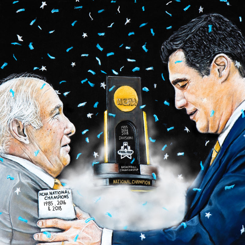 "Rollie Massamino and Jay Wright ""Two Legends"" - Spector Art"