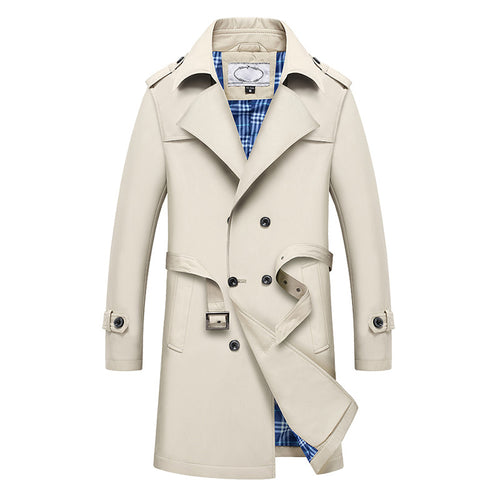Men's Classic Lapel Double Breasted Coat - WealFeel