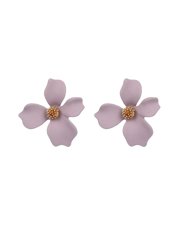 WealFeel Cute Frosted Flower Earrings - WealFeel