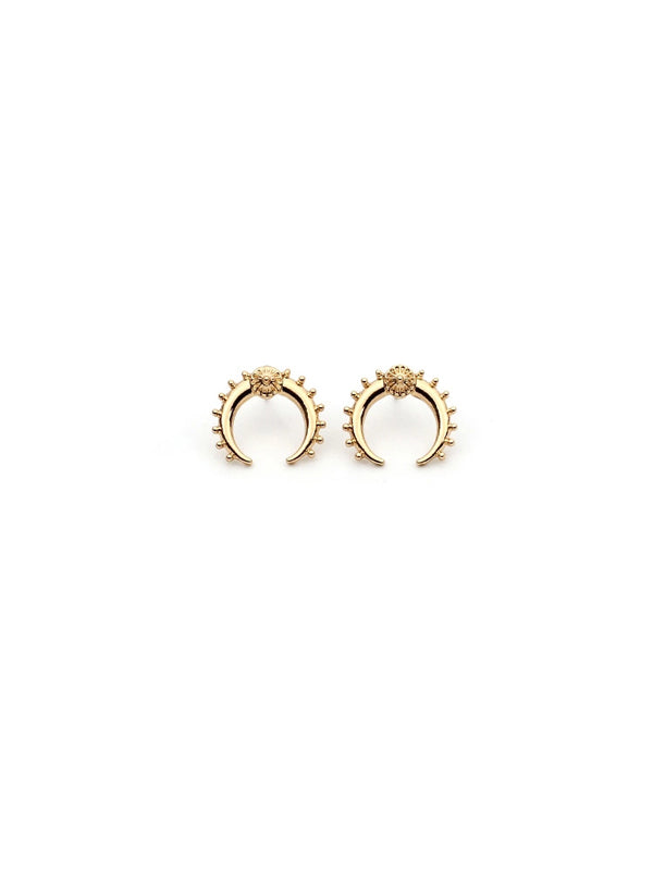 WealFeel Metal Moon Earrings - WealFeel