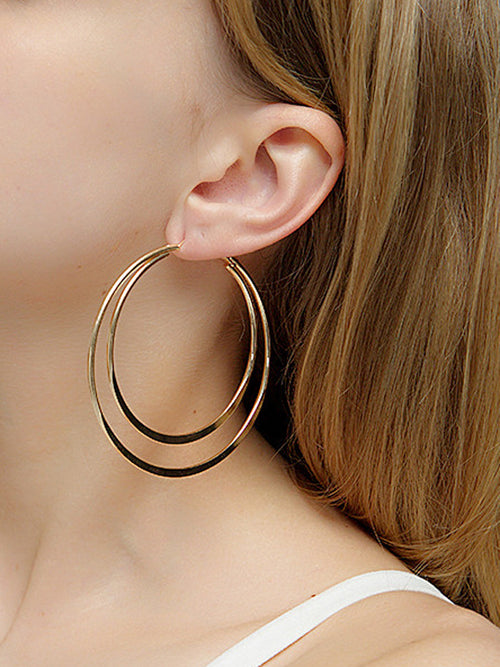 WealFeel Double Circular Ring Earrings - WealFeel