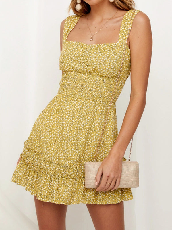 Printed Sleeveless Dress - WealFeel