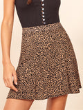 Printed High Waist Skirt - WealFeel