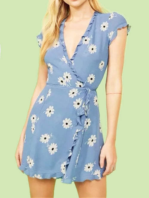Sky Blue Waistbelt Dress - WealFeel