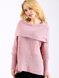 For Her Pleasure Off-the-Shoulder Knit Sweater - WealFeel